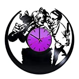 ForLovedGifts Joker and Harley Quinn Design Vinyl Wall Clock – Handmade Gift for Any Occasion – Unique Birthday, Wedding, Anniversary, Wall décor Ideas for Any Space