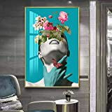 Arte de Pared de Estilo escandinavo Impreso Imagen Modular ilustración Floral Figura Abstracta sobre Lienzo póster decoración del hogar Pintura sin Marco 40X50 cm