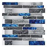 Art3d 10-Sheet Premium Self-Adhesive Kitchen Backsplash Tiles in Marble, 12'X12'