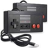 2 Pack Classic USB Controller for NES Gaming, miadore PC USB Controller Retro Game Pad Joystick Raspberry Pi Controller for Windows PC Mac Linux RetroPie NES Emulators