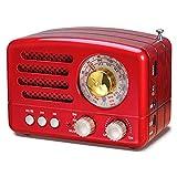 PRUNUS J-160 AM FM SW Haut-Parleur Bluetooth Radio Rétro, Petite Radio à...