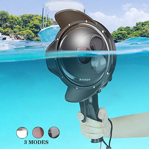 D&F Dome Port per GoPro Housing Fotografia Accessori alloggiamento Impermeabile per GoPro Hero 7 Nero/Hero 6/Hero 5/Hero (2018) con Lente d'Ingrandimento e Filtro Fotografia Subacquea
