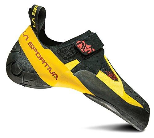 LA SPORTIVA Skwama Rock Climbing Shoe, Black/Yellow, 38 M EU
