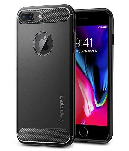 【Spigen】 iPhone 7 Plus ケース, ラギッド・アーマー  米軍MIL規格取得 落下 衝撃 吸収  アイフォン 7 プラス 用 耐衝撃カバー (iPhone7 Plus, ブラック)