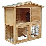 dibea Clapier bois pour lapins Petit enclos animaux Clapier d'extérieur...