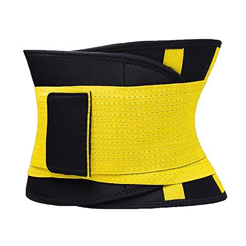 VENUZOR Waist Trainer Belt for Women - Waist Cincher Trimmer - Slimming Body Shaper Belt - Sport Girdle Belt (UP Graded)(Yellow,X-Large 2