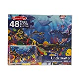 Melissa & Doug Underwater Floor Puzzle (Extra-Thick Cardboard Construction, Beautiful Original Artwork, 48 Pieces, 2  3, Great Gift for Girls and Boys - Best for 3, 4, 5, and 6 Year Olds)