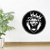 wZUN Diseñado león Etiqueta de la Pared decoración extraíble Vinilo Arte Mural Sala de Estar Etiqueta de la Pared 63X63 cm