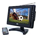 Tyler TTV703 10' Portable Widescreen LCD TV with Detachable Antennas, USB/SD Card Slot, Built in Digital Tuner, and AV Inputs
