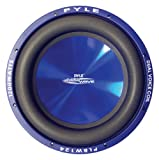 Car Vehicle Subwoofer Audio Speaker - 10 Inch Blue Injection Molded Cone, Blue Chrome-Plated Steel Basket, Dual Voice Coil 4 Ohm Impedance, 1000W Power For Vehicle Stereo Sound System - Pyle PLBW104