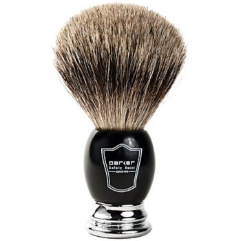 Parker Safety Razor, Luxurious Premium 3 Band Pure Badger Shaving Brush with Stand, Packaged in a...
