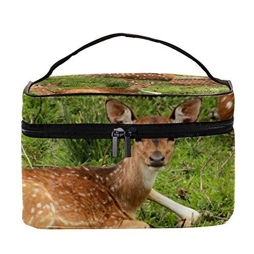 TIZORAX Wild Deer Group Borsa cosmetica Custodia da toilette da viaggio Scatola grande per organizer...
