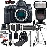 Canon EOS 5D Mark IV Digital SLR Camera Bundle (Body Only) + Professional Accessory Bundle (14...