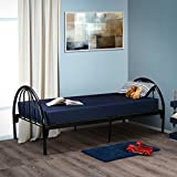 Fortnight Bedding 6 Inch Foam Mattress with Blue Nylon Water Resistant Cover - Narrow Twin, Cot, RV, Bunk Bed, Size, Made in USA (30x74x6)