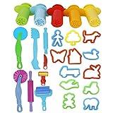 ULTNICE Jouez à Doh Kits 20pcs Smart Dough Tools avec 5pcs Extruder Tools...