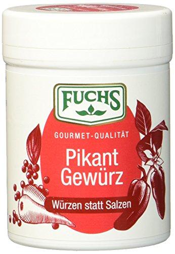 """Fuchs Würzen statt Salzen """"Pikant"""" Salzersatz Gewürzmischung, auf Paprikabasis, Gewürz zum Kochen und Würzen ohne Salz, 3er Pack (3 x 60 g)"""