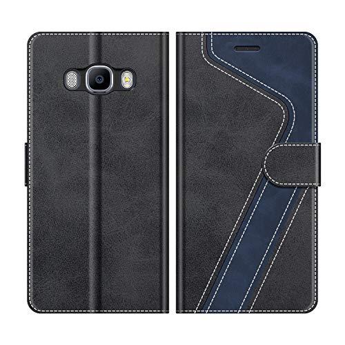MOBESV Custodia Samsung Galaxy J5 2016, Cover a Libro Samsung Galaxy J5 2016, Custodia in Pelle Samsung Galaxy J5 2016 Magnetica Cover per Samsung Galaxy J5 2016, Elegante Nero