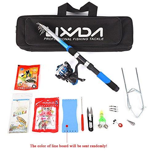 Canne à pêche Set, Lixada télescopique Canne à pêche et moulinet Combo avec ensemble de mer salée d'eau douce kit de canne à pêche kit,...