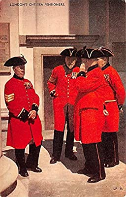 Chelsea Pensioners London United Kingdom, Great Britain, England Postal Used Year: Unused Grade: 2 Regular Size - approximately 3 1/2 inch x 5 1/2 inch or 9 CM x 14 CM