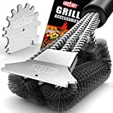 GRILLART Grill Brush and Scraper 18 Inch - Wire Bristle Brush Double Scrapers - Barbecue Cleaning...