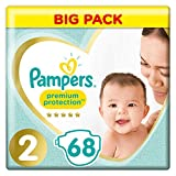 Pampers Premium Protection, 68 couches - Taille 2