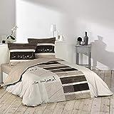 Douceur d'Intérieur, parure de lit avec 2 taies d'oreiller, Coton,...