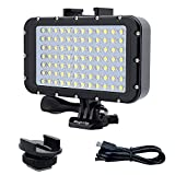 Suptig Underwater Lights Dive Light 84 LED High Power Dimmable Waterproof LED Video Light Waterproof...