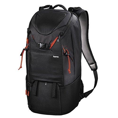 Hama Kamerarucksack für 2 Kameras und Zubehör (großer Fotorucksack mit Regenschutz und Rückenzugriff, ergonomisch, variable Einsätze, Stativhalterung, Tabletfach, ideal zum Wandern und Reisen) schwarz