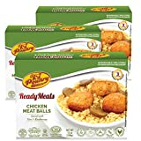 Kosher MRE Meat Meals Ready to Eat, Chicken Meat Balls & Mushrooms (3 Pack) - Prepared Entree Fully Cooked, Shelf Stable Microwave Dinner – Travel, Military, Camping, Emergency Survival Protein Food