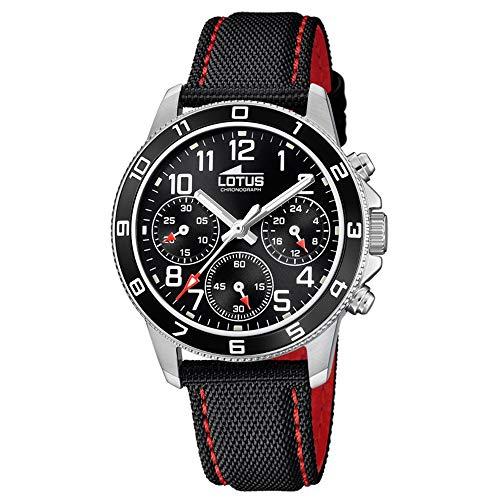Lotus Jungen Chronograph Quarz Uhr mit Leder Armband 18581/3