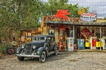 1000 pièces-Arizona magasin général Route 66 nostalgie USA Jigsaw Puzzle pour adultes en bois voyage cadeau Souvenir
