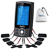 Belifu Rechargeble Tens Unit Upgraded 24 Modes for Pain Management and Rehabilitation with Independent A/B Channel Mini Massager Muscle Stimulator for Pain and Muscle Relief