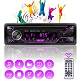 Autoradio Bluetooth Mains Libres, 4x60W Radio Voiture Support...