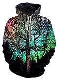 Azuki Unisex Realistic 3D Print Pullover Hoodie Hooded Sweatshirt XL