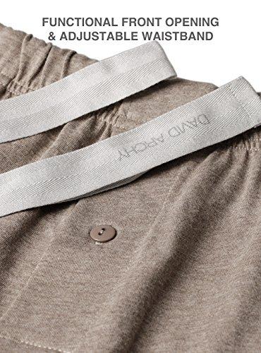 DAVID ARCHY Men's Cotton Heather Striped Sleepwear Long Sleeve Top & Bottom Pajama Set