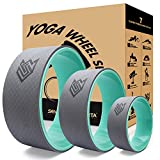 Seven Sparta Yoga Back Wheel Set 3 Pack Yoga Back Roller for Stretching, Back Pain, Backbends and Bodyweight Exercices, 13Inch, 10.5Inch, 6.5InchTurquoise