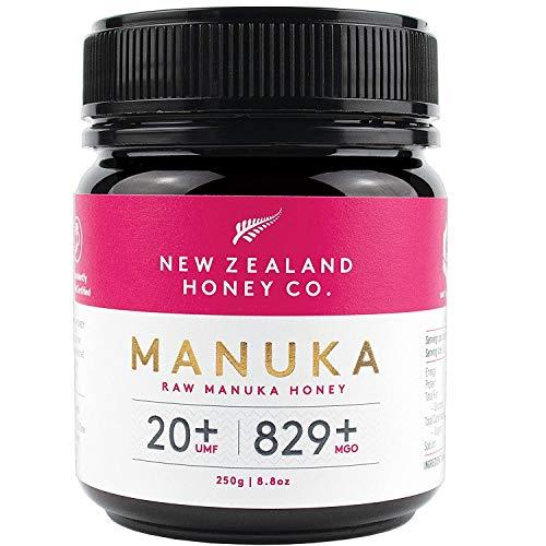 New Zealand Honey Co. Manuka Honig MGO 829+ / UMF 20+   Aktiv und Roh   Hergestellt in Neuseeland   250g