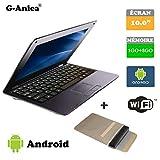 G-Anica Netbook Ordinateur Portable HDMI écr.10.1'- (WiFi, Ethernet,...