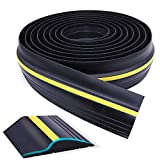 Universal Garage Door Threshold Seal, WEST BAY DIY Weather Stripping Bottom Rubber Waterproof 20 Feet Length (sealant not Included)