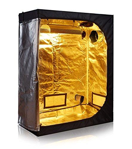 TopoLite 48'x24'x60' 600D Grow Tent Room Reflective Mylar Indoor Garden Growing Room Hydroponic System Dark Room
