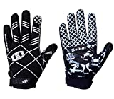 Seibertron Pro 3.0 Twelve Constellations Elite Ultra-Stick Sports Receiver Glove Football Gloves Youth Black XS