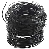 Andifany 9 Rollos Bonsai Wires Alambre de Entrenamiento de Aluminio Anodizado Bonsai con 3 TamaOs (1.0 Mm, 1.5 Mm, 2.0 Mm), Total 147 Pies (Negro)