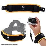 2イン1 フローティングリストストラップ & ヘッドストラップフローター ― GoPro Hero 6 / 5 / 4, Session, Black, Silver, Hero+ LCD, 3+, 3, 2, 1用 ― カメラが沈むことを防ぐ ― 手首に巻きつける、またはヘッドストラップに取り付ける