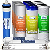 iSpring F17U100 2-Year Replacement Filter Set for 100GPD 6-Stage UV Reverse Osmosis Water Filter, Fits iSpring RO with UV systems