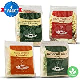 The Secret Garden, VEGAN Soup 4-PACK; All-Natural, Homemade In Minutes, (1) Corn Tortilla (1) Broccoli Rice (1) Garden Vegetable & Barley (1) Easy Potato Chowder (VEGAN VARIETY 4-PACK)