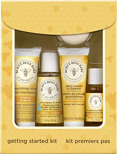 Burts Bees Baby Getting Started Kit | Set van 5 babyproducten |  Dermatologisch getest