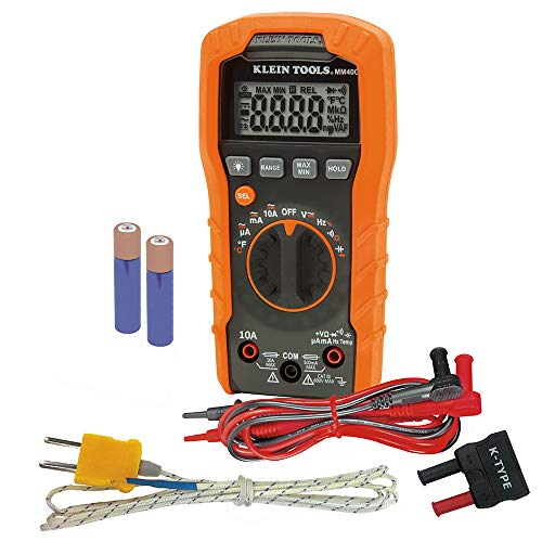 Klein Tools MM400 Multimeter, Auto Ranging Digital Electrical Tester for...