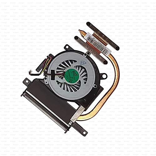 X-Comp Ventola CPU Fan Cooler Heatsink 3VHK5TMN010 per Sony Vaio SVE15 Serie Scheda Madre Senza Scheda Grafica