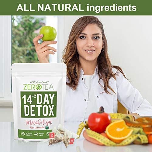 Zero Tea Detox Tea, 14+2 Day Weight Loss Tea for Women&Men, Diet Herbal Tea for Colon Cleanse, GPGP GREENPEOPLE Skinny fit Tea for Slimming (14+2 Tea Bags) 3