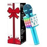 Fede Microphone Karaoké Sans Fil Bluetooth avec Lumière LED Multi couleur,...